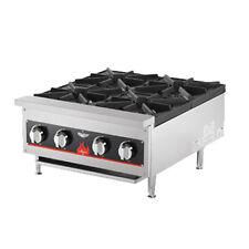 """Vollrath 40737 23-5/8"""" Countertop Gas Cayenne Hotplate - 104,000 Btu"""