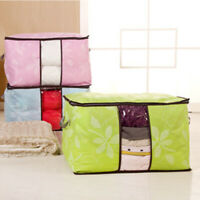 Foldable Quilt Blanket Clothes Storage Bag Non-Woven Pouch Organizers Charm