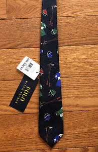 NWT POLO RALPH LAUREN YALE CLUB BOYS One Size 4-7 SILK TIE HAND MADE IN ITALY #1