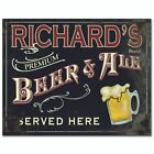 Personalizable Premium Beer & Ale Canvas Sign