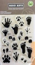HERO ARTS clear cling stamps FOOTPRINTS CL399 for Card making, stamping