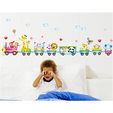 Animal Wall Sticker Monkey Giraffe Tree Train Nursery Baby Kids Room Decal OK