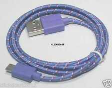 Fabric Braided Data Sync Charge Micro USB Cable For Samsung Nokia Sony HTC LG