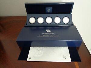 2011 american silver eagle 25th anniversary set