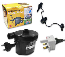 Electric Pump EU European / UK Mains Inflatable Air AirBed Power Travel Adapter