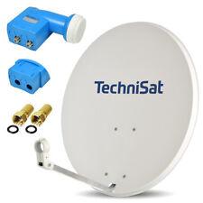 TechniSat Digitale SAT Anlage 80cm Spiegel Schüssel TWIN LNB 2 Teilnehmer UHD 4K
