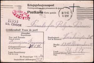 World War II - Belgian Prisoner of War Related Correspondence Postal Card - Nice