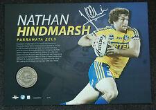 NATHAN HINDMARSH PARRAMATA EELS HAND SIGNED NRL PLAYER MEDAL LIMITED PRINT