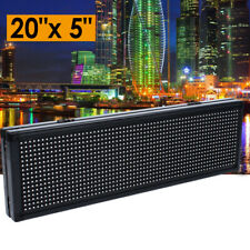 20x5 P8 Full Color Semi Outdoor Led Sign Programmable Scrolling Message Board