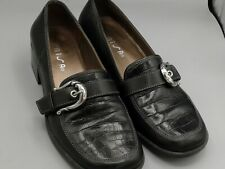 77ca9220d85 Unisa Utopia Loafers 6.5 M Women s Soft Black Leather Shoes Buckle Flats