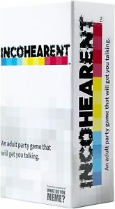 Incohearent Party Game  - Brand New fun party
