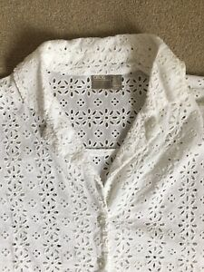 Asos White Broderie Anglaise Blouse 6, 8, 10