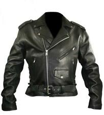 """MENS XELEMENT BLACK COWHIDE ARMORED LEATHER MOTORCYCLE JACKET 45"""" CHEST= XL"""
