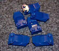 (6) 2x4 Dark Blue Specialty Cover Lego Bricks - NEW Parts