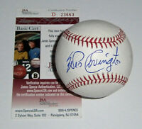 1957 BRAVES Wes Covington signed baseball JSA COA AUTO Autographed Milwaukee