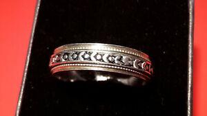 Antik Design Sinning Ring Silber 925 Drehring Spinner Herren Ring Gr: 65/66