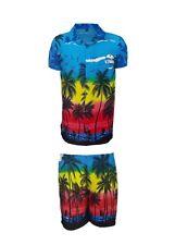 Mens Hawaiian Shirt Stag Beach Hawaii Aloha Party Summer Holiday Fancy S -xxl D8 Blue Palm Set XL