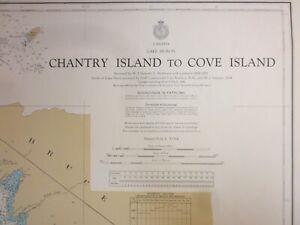 Canadian Hydrographic Maritime Chart   1981  Lake Huron Chantry Island to Cove