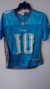 Reebok Women's NFL Jersey Titans Vince Young Light Blue sz L