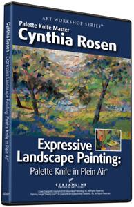 CYNTHIA ROSEN: EXPRESSIVE LANDSCAPE PAINTING PALETTE KNIFE IN PLEIN AIR- ART DVD