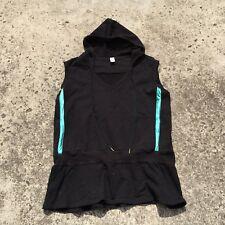 "UNDERCOVER WEAR ""Black & Aqua"" Women's Stretch Sleeveless Vest Top (Size 22)"