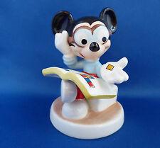 Mickey Mouse Walt Disney Goebel Figurine Stamp Collector Porcelain Germany Vtg