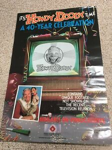 "Howdy Doody 1987 NBC 40 Year Celebration Poster 24""x36"" Fries Home Video Rare"