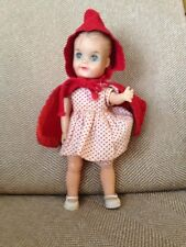 VINTAGE 1950'S RED RIDING HOOD RUBBER DOLL EFFANBEE 8 INCHES