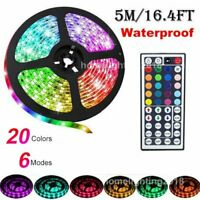 5M 5050 RGB LED STRIP LIGHTS COLOUR CHANGING TAPE CABINET KITCHEN LIGHTING KIT