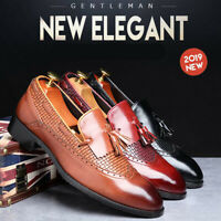 PLUS SIZE Men's Tassel Slip On Loafers Wingtip Casual Shoes Formal Dress Oxfords