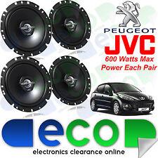 """Peugeot 207 2006 JVC 17cm 6.5"""" 1200 Watts 2 Way Front & Rear 5 Door Car Speakers"""
