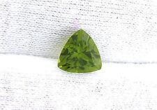 2.75 Carat Trilliant Trillion Arizona Apple Green Peridot Gem Genstone B19A65