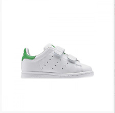 SNEAKERS ADIDAS STAN SMITH TG. 22 UK 5.5 US 6 SCARPE BAMBINO BIANCO WHITE PELLE
