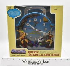 Masters Of The Universe He-Man Quartz Talking Alarm Clock 1983 Mattel Vintage