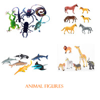 PLASTIC ANIMAL FIGURES WILD REPTILE OCEAN INSECTS HORSES DINOSAURS ZOO FARM