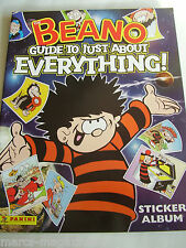 RARE PANINI BEANO GUIDE TO JUST ABOUT EVERYTHING 2005 STICKER ALBUM BOOK EMPTY