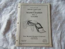 1960 Massey Harris MH-2 loader parts list catalog manual