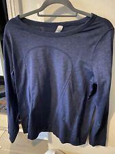 Lululemon Swiftly Long Sleeve Breeze Relaxed Fit Size 10/UK14 Gatsby blue