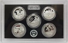 2016 National Park ATB Quarters Silver Proof Set - US Mint America the Beautiful