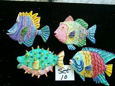 DECEMBER DIAMONDS MAGNET ASSORTMENT-UNDER SEA -FISH ETC-RESIN-COLORFUL-PRICE CUT