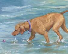 More details for vizsla hungarian great original oil painting sandra coen artist canvas dog lover