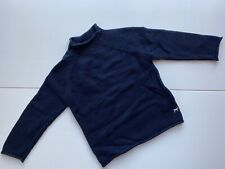 Adorable Boys Crewcuts Cotton Navy Blue Roll Neck Sweater Size Medium Holiday