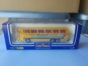 TOMICA LONG TOMICA L9 - NEOPLAN BUS [YELLOW] NEAR MINT VHTF BOX GOOD JAPAN