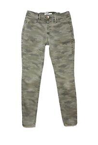 Abercrombie Kids Green Camouflage Jean Legging Girls Size 11/12