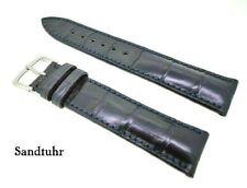 Genuine Alligator,Crocodile Leather Wrist Watch Band,Band 20mm Blue Of