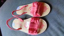 Spot On Open Toe Flat Slip On Sandals UK1 EU33 Pink BNWoT
