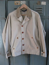Ralph Lauren Men's Classic Button Front Cord Collar Beige Jacket * Large L *