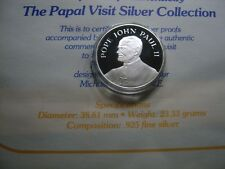 POPE JOHN PAUL II CATHOLIC CHURCH 1987 US VISIT TO MIAMI FL SILVER COIN RARE