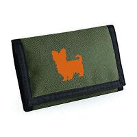 Yorkshire Terrier Wallet, Dog Silhouette Design Yorkie Purse Birthday Gift