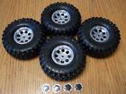 Traxxas TRX-4 Chevy K5 Blazer 1.9 Canyon Trail Tires & Chrome Wheels 12mm Glued